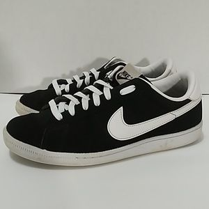 Nike Classic Tennis Black Suede Leather sz8